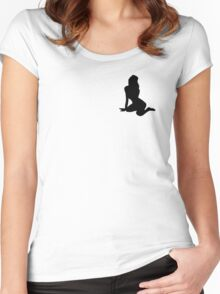 Sexy Pin Up Girl Shirts Women's Fitted Scoop T-Shirt
