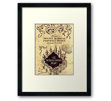 Harry potter The Marauders Map Framed Print