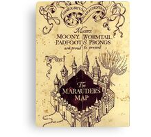 Harry potter The Marauders Map Canvas Print