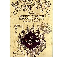 Harry potter The Marauders Map Photographic Print
