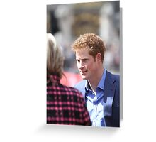 Prince Harry at The Virgin London Marathon Greeting Card