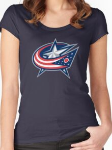 columbus blue jackets Women's Fitted Scoop T-Shirt