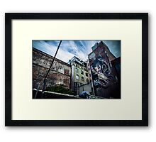 Street art on Tattersalls Lane Framed Print