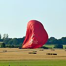 Virgin Balloon Landing Oxfordshire by John Maxwell