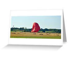 Virgin Balloon Landing Oxfordshire Greeting Card