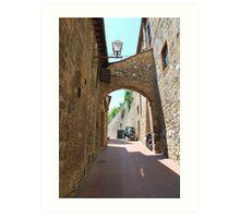 Streetscape, San Gimignano Art Print