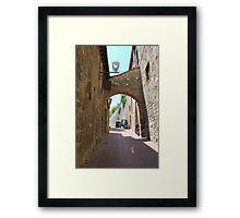 Streetscape, San Gimignano Framed Print