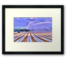 Irrigation Colors Framed Print
