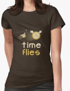 Time Flies shirt  Womens Fitted T-Shirt