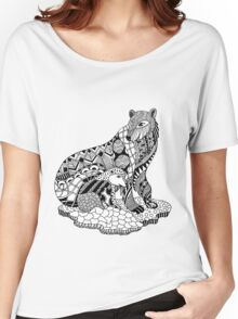 Polar Bear with Cub Drawing Women's Relaxed Fit T-Shirt