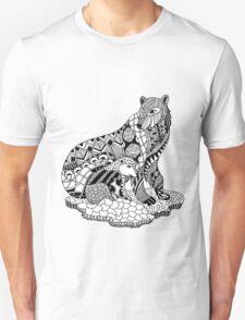 Polar Bear with Cub Zentangle T-Shirt