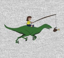 Walking my dinosaur Kids Tee
