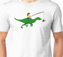 Walking my dinosaur Unisex T-Shirt