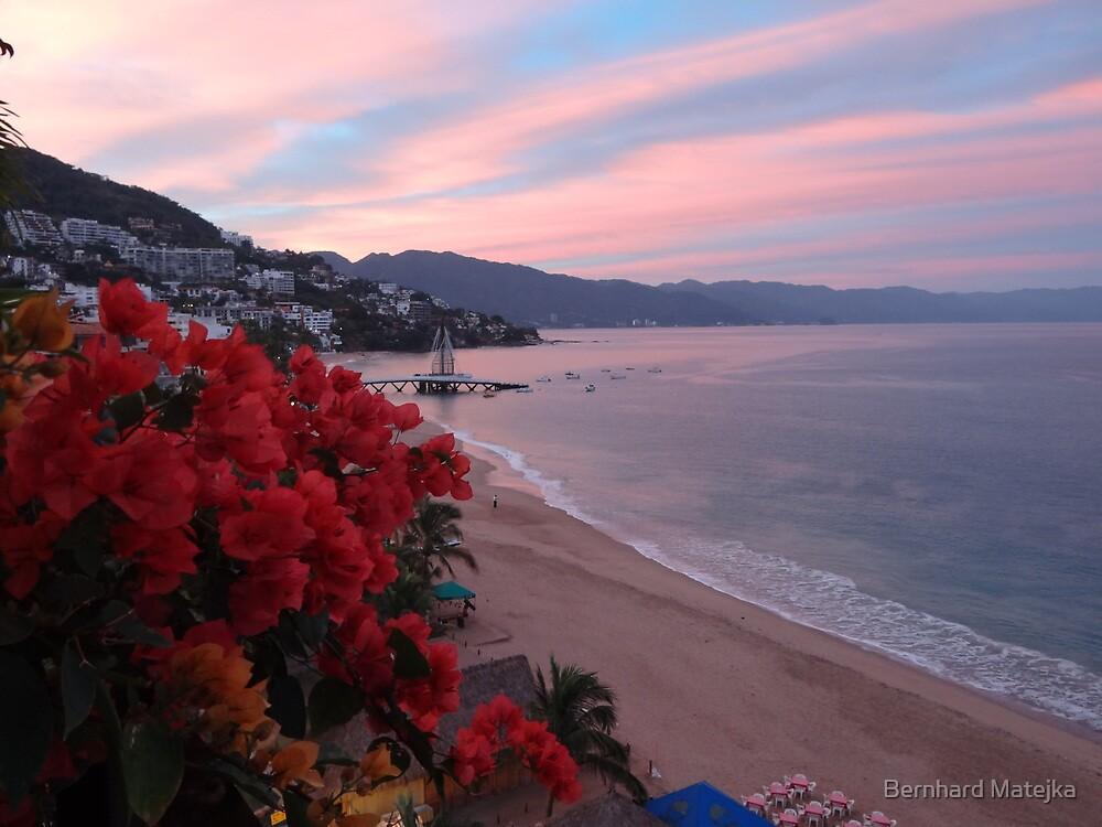 Morning At The Bay Of Banderas - Mañana En La Bahia De Las Banderas by Bernhard Matejka