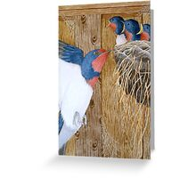 The Barn Swallow by Véronique Cole Greeting Card