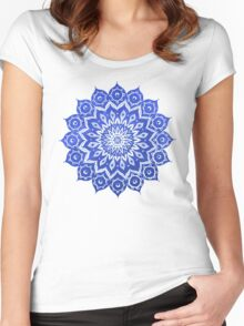 okshirahm sky mandala Women's Fitted Scoop T-Shirt