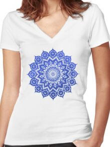 okshirahm sky mandala Women's Fitted V-Neck T-Shirt