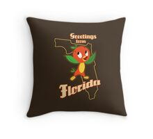 Greetings from Florida Throw Pillow
