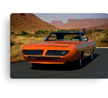 """""""The Roadrunner and the Plymouth"""" Canvas Print"""