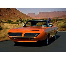 """""""The Roadrunner and the Plymouth"""" Photographic Print"""