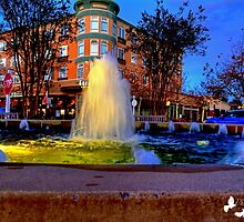 MARKET COMMONS HDR FOUNTAIN by TJ Baccari Photography