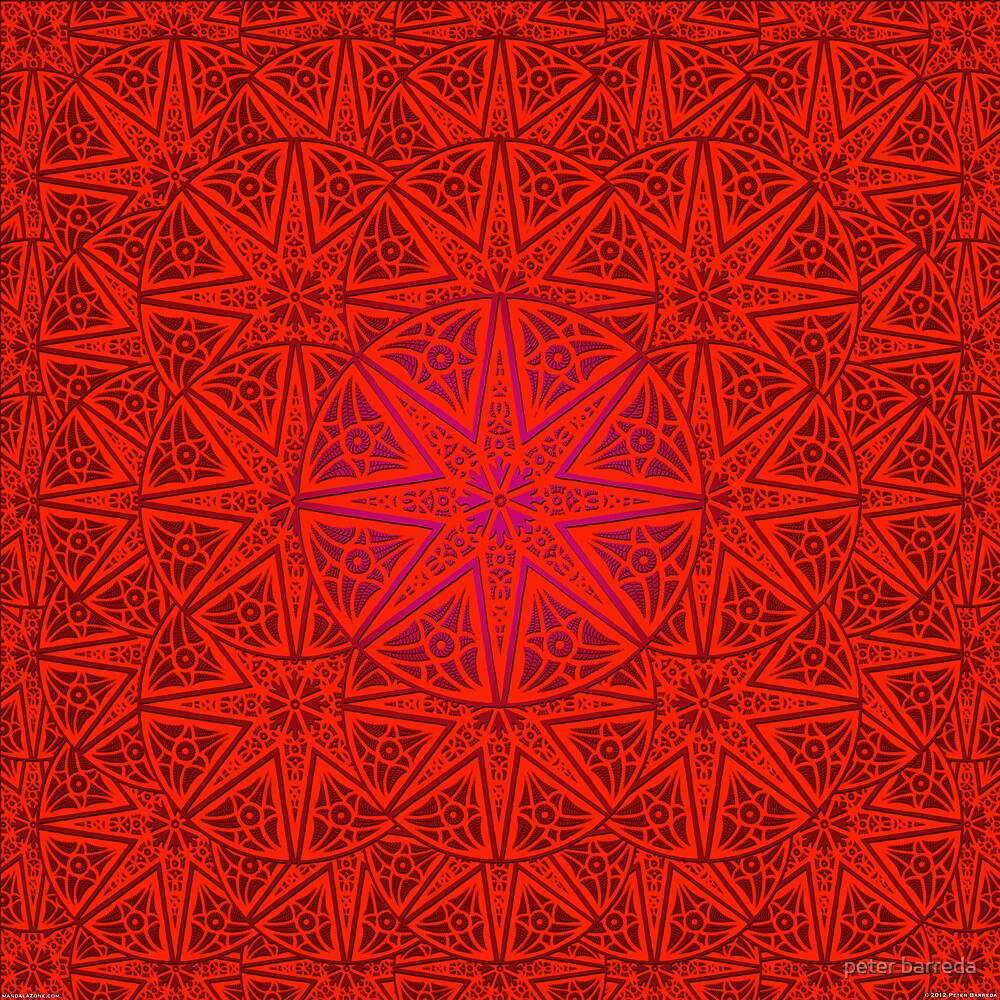 rashim red lace mandala by peter barreda