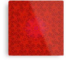 rashim red lace mandala Metal Print