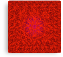 rashim red lace mandala Canvas Print