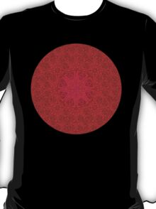 rashim red lace mandala T-Shirt