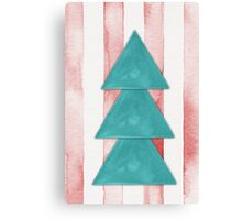 Christmas Tree Watercolor Canvas Print
