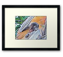 CLING TO SURVIVAL Framed Print
