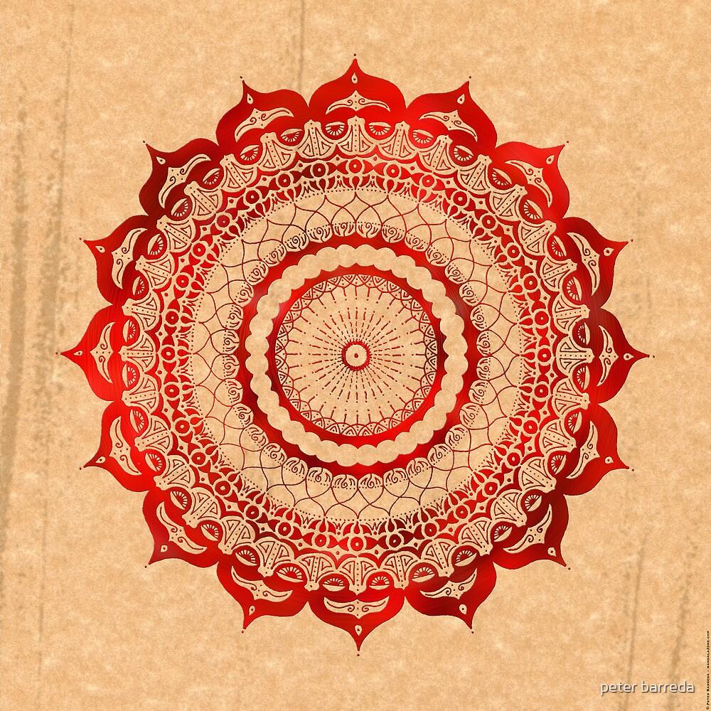 omulyana red mandala by peter barreda