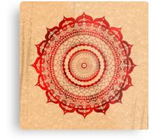 omulyana red mandala Metal Print