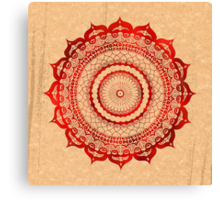 omulyana red mandala Canvas Print