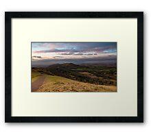 Boxing Day Walk, Malvern Hills, Herefordshire end Framed Print