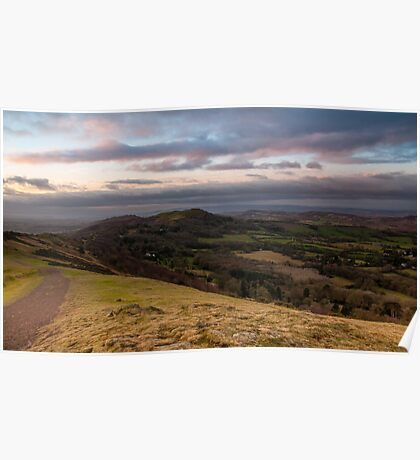 Boxing Day Walk, Malvern Hills, Herefordshire end Poster