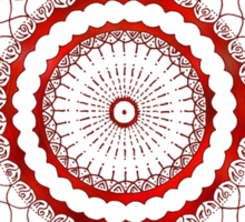 omulyana red mandala Sticker