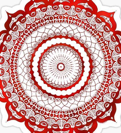 omulyana red mandala Sticker