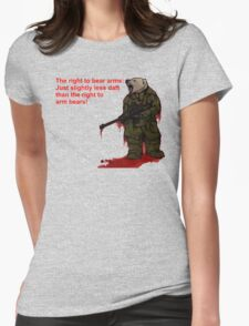 The right to arm bears Womens Fitted T-Shirt