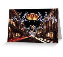 Christmas Day. Regent Street. Greeting Card