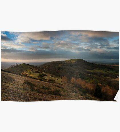 First light hits Hereford Beacon Poster