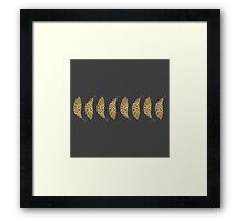 Pretty and Swanky Faux Gold Leaf Stripe on Black Framed Print