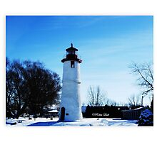 Wintery Day at the Lighthouse Photographic Print