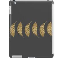 Pretty and Swanky Faux Gold Leaf Stripe on Black iPad Case/Skin