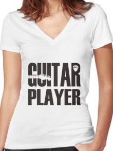 Guitar Player Women's Fitted V-Neck T-Shirt