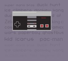 NES/Famicom Fan Shirt  by lucduckling