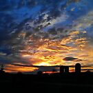 Sunset on Silos by Lisa Taylor