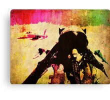 JET! PILOT! FIGHTER! PLANE! Canvas Print
