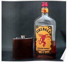 Still Life - Whiskey & Flask Poster