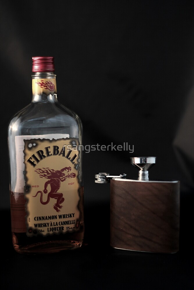 Still Life - Whiskey & Flask 2 by rsangsterkelly